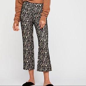 NEW Free People Jacquard Metallic Pants